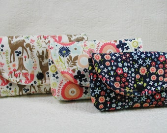 3 Piece Snap Pouch Set (Large, Medium, Small) ... Woodland Spring