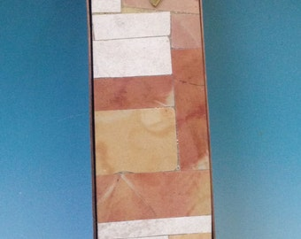 Jerusalem Stone Mezuzah Case in Copper and Stone