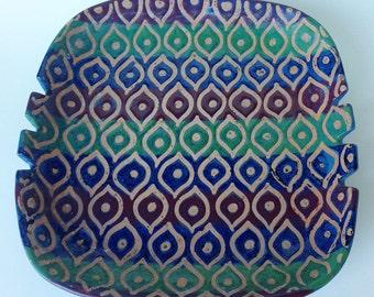Vintage Raymor Ceramic Pottery Ashtray, Signed, Mid-Century Modern Raymor Italy