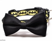 Black Bowtie to add to Dog Collar / Removable Bow Tie / Bowtie ONLY