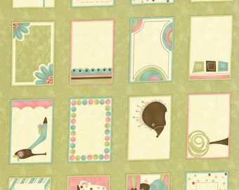 Name that Quilt Label Panel 24x44 Green 17630-13