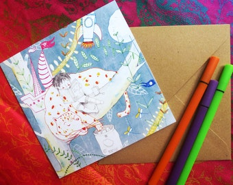 Greetings card, Birthday Cards original illustrations