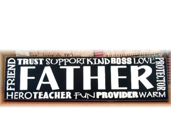 FATHER typography sign great gift for Father's Day