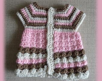 Baby Dress, Baby Crochet Dress, Infant dress, Crochet baby dress, Infant baby dress