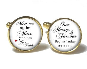 Meet me at the Altar Groom Cufflinks Style 689