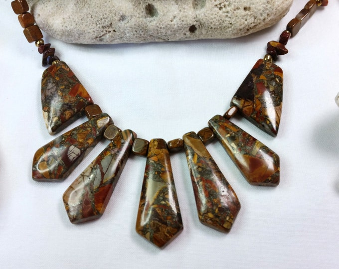 Earthy Jasper Necklace and Earrings