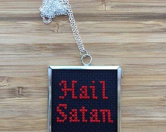 Hail Satan necklace