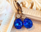 Best Gifts for Wife - Sapphire Earrings - Victorian Jewelry - Blue Earrings - MYSTERE Sapphire