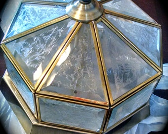 Vintage Light Fixture Octagon Ceiling light fixture Vintage Lighting