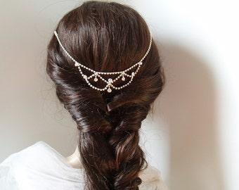 Hair Chain Hair Jewelry Wedding Headchains Hairchain Bridal Headbands silver headband