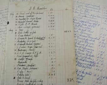 Vintage Antique Ledger Pages | 6 Pieces Handwritten Australian Paper Ephemera