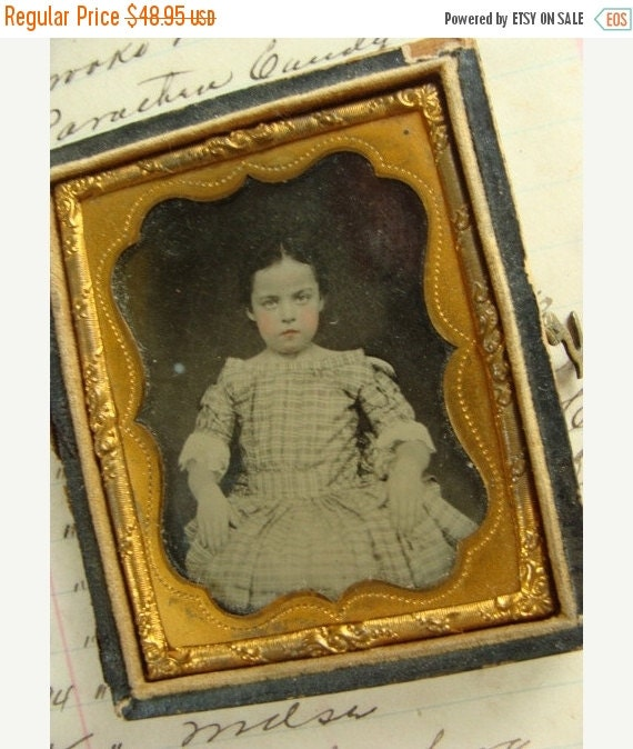 20PercentOff Antique Daguerreotype Photos in Stunning Unattached Union Case