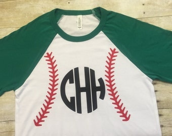 Personalized baseball tee, personalized raglan tee, baseball shirt, baseball stitching