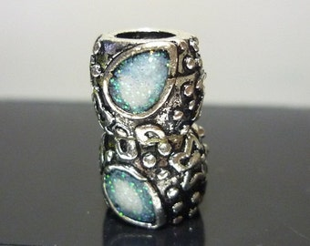 New design Druzy European Antique Silver Bead