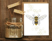 Honey Comb Letterpressed Greeting Card