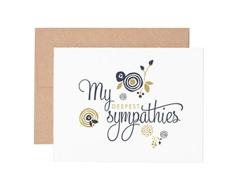 My Deepest Sympathies Letterpress Greeting Card - Sympathy Card | Greeting Cards | Letterpress Card