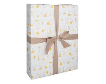 Gift Wrap Paper Alphabet - Kids Children Baby Shower ABC