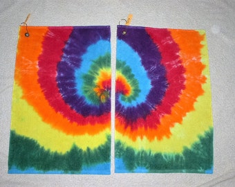Golf Towels, tie dyed, 100% cotton. GT3,4