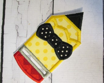 Boy or Girl Pencil - Iron On or Sew On Embroidered Applique