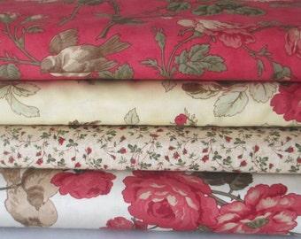 Red 3 Sisters Favorites Half Yard Fabric Bundle - Moda - 3 Sisters