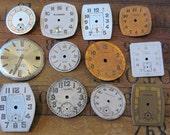 Vintage Antique Watch  Assortment Faces - Steampunk - Scrapbooking z7