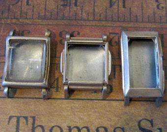 Vintage  Watch parts - watch Cases -  Steampunk - Scrapbooking g7