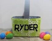 Personalized Easter Basket - Easter Bunny - Custom Easter Bucket - Easter Egg Basket - Monogrammed Easter Basket - Kids Reusable Bag