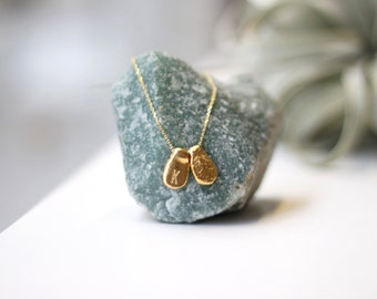 Gold Plated Silver Initial Jewelry Personalized Necklace-Bridesmaid Necklace Bridal Jewelry Gift