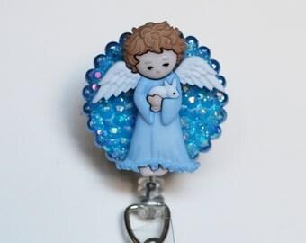 An Angel Cares ID Badge Reel - Retractable ID Badge Holders - Zipperedheart
