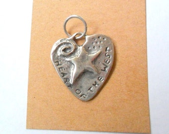 Heart of the West Sterling Silver Focal Pendant Finding