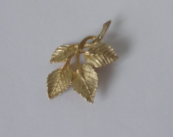 Gold Plated DuBarry Leaves Brooch. D.F.A