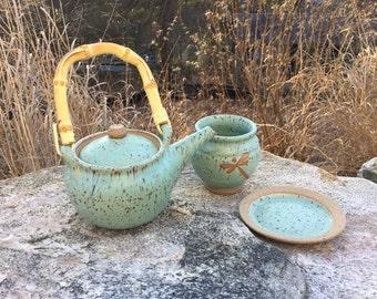 Personal 1 cup Stoneware Tea Set