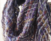 Handwoven Scarf, Triangle, Woven Shawl, Cowl, Celtic Mist