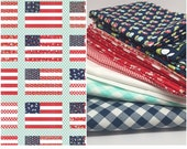 CHRISTMAS IN JULY Sale - Fat Quarter Bundle (13)  - Stars and Stripes Quilt by Camille Roskelley - Vintage Picnic and Little Ruby