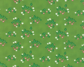 SPRING SALE - Gooseberry - 1 yard - Floral Patch in Green Leaf - 5011 15 - by Lella Boutique for Moda Fabrics