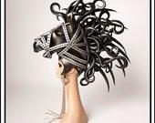 SALE TODAY Bondage Pony…. Black Horse Headdress with Pony Bit