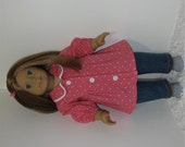 Jeans with Hot Pink Tunic Top, Fits 18 Inch American Girl Dolls