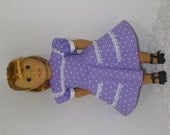 Lavender Heart Dress, Fits 18 Inch American Girl Dolls