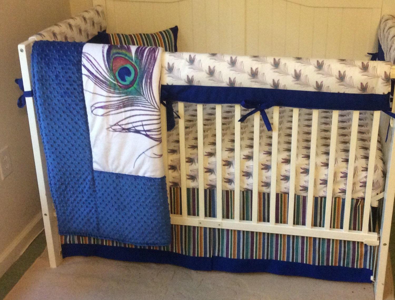 deposit crib bedding royal blue gold and by butterbeansboutique. Black Bedroom Furniture Sets. Home Design Ideas
