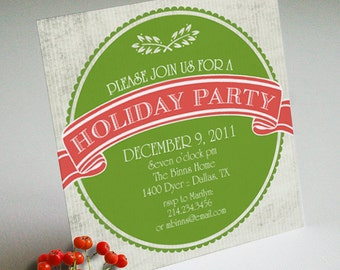 PRINTABLE Holiday or Christmas Party Invitation or Evite