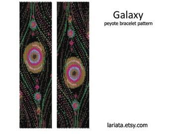 Galaxy - Peyote Bracelet Pattern - INSTANT DOWNLOAD