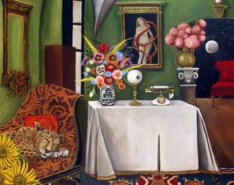 Fine art print of Art Still Life Painting- The Gatekeepers- Catherine Nolin-