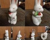 Vintage Porcelain Bunny Rabbit--Made in Japan--Easter Collectible--Terrarium--Fairy Garden