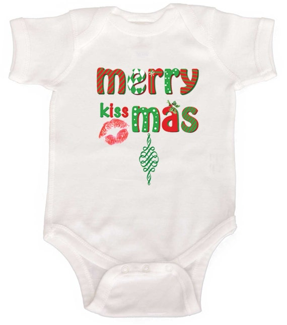 Merry Christmas Baby Bodysuit by Mumsy Goose Christmas Creeper Fun Holiday Infant Shirts kids winter tee's Baby One Pieces
