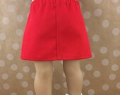 Red Skirt Fits American Girl 18 Inch Dolls Twill Straight Mini Skirt Doll Separates Mix and Match Girls Toy