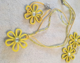 Yellow Flower Jewelry set
