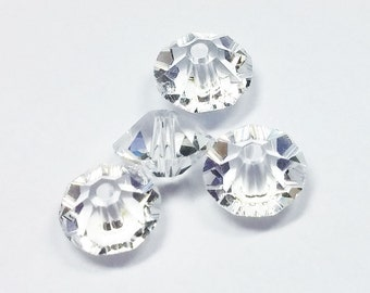 5x3mm Vintage Swarovski Crystal Rondelle Spacer Beads (40), Article 5305, Clear, Discontinued, Rare || sku 5305.5x3.001