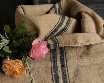 B 171: grainsack,  antique linen; FRENCH INDIGO BLUE; pillow benchcushion; 47.24 long;  wedding decoration; christmas, thanksgiving