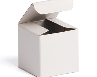 10 Gloss White Gift Boxes . 2x2x2