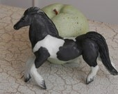 porcelain black and white paint gypsy vanner horse ornament